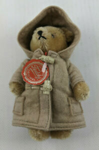 "*RARE* Hermann Teddy Original 6"" Brown Teddy Bear Red Tag with Jacket"