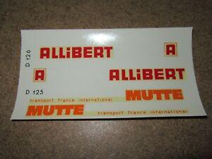 298Q Decal Allibert Mutte Transport France Inter Truck Decal 5 1/2X2 13/16in