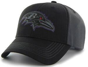 Baltimore Ravens NFL Fan Favorite Blackball Black Tonal Hat Cap Men's Adjustable