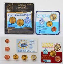 Sammlung Lot 4 x KMS Kursmünzensatz Euro Eurosatz San Marino 2003 2004 2006