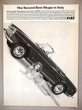 Fiat 1500 Spider Sports Car PRINT AD - 1965 ~ Pininfarina