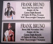 """FRANK BRUNO new Boxing Champions Gold  Subimated Plaque """"FREE POSTAGE"""""""