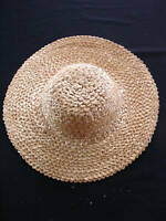 VINTAGE 1960'S WOMAN'S STRAW HAT SIZE 6