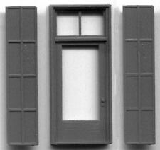 SGL DOOR WITH IRON SHUTTERS HO Scale Model Railroad Structure Parts GL5137