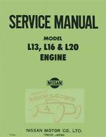NISSAN DATSUN SHOP MANUAL SERVICE REPAIR L16 L20 ENGINE BOOK L13