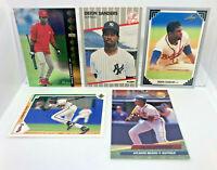 Deion Sanders - 5 Card Lot 1989 Fleer ROOKIE, Leaf, Upper Deck SP & Fleer Ultra