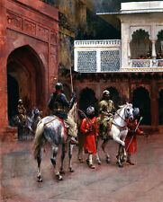 Indian Prince, Palace of Agra Edwin Lord Weeks Pferde Reiter Hof Tor B A3 00105