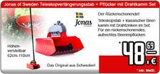 Jonas of Sweden Teleskopverlängerungsstab + Pflücker mit Drahtkamm