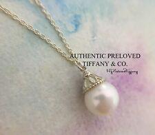 "Authentic Tiffany & Co. Ziegfeld Freshwater Pearl Silver Necklace 16"""