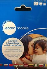 Lebara Mobile Sim Card - Standard/Micro/Nano all in one (Buy 1 Get 1 Free)
