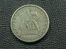 PORTUGAL    2 1/2  Escudos    1963