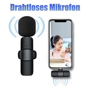 Drahtloses Lavalier-Mikrofon Mini Mic für iPhone Android Phone Live-Übertragung