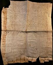 1369 - ANTIQUE PARCHMENT FROM THE REIGN OF KING CHARLES V AND POPE URBAN V ERA