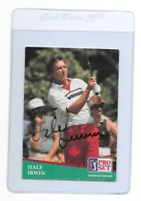 HALE IRWIN Signed 1991 PRO SET Golf Card #97 PGA 1974 1979 1990 US OPEN Champion