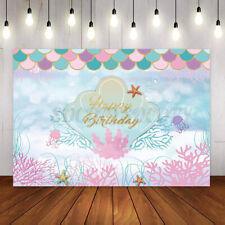 Photography Backdrop Sea Little Mermaid Birthday Baby Shower Backdrop Decor Us