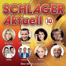 SCHLAGER AKTUELL 10 - ANDREA BERG, BEATRICE EGLI, CALIMEROS, MICHELLE 3 CD NEUF