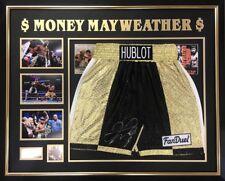 Floyd Mayweather Signed Boxing Trunks Shorts V Manny Pacquiao  COA Photo Proof
