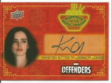 2018 UPPER DECK MARVEL DEFENDERS KRYSTEN RITTER JESSICA JONES AUTO SP AUTOGRAPH