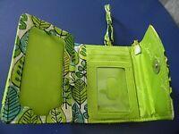 Vera Bradley green floral women's wallet