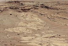 Stampa incorniciata-PIANETA MARTE PAESAGGIO come preso da Curiosità Rover (PICTURE Terra)