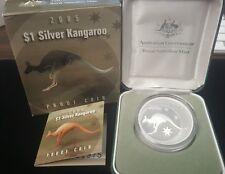 2005 One Dollar Silver Kangaroo Proof Coin Royal Australian Mint No. 1975