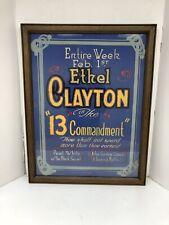 Antique Original Theater Poster Ethel Clayton & Pearl White