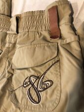 686 Womens Mannual Ski Snowboard Winter Pants Small Light tan khaki