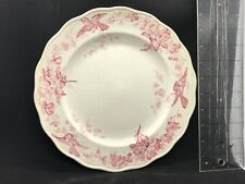 "BWM & CO. Red CAULDON ENGLAND 10"" PLATE Paris"