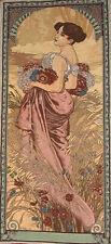 FOUR SEASONS Alhonse Mucha Wall Tapestry Summer