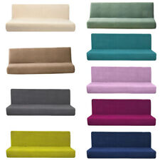 Armless Sofa Cover Stretch Sofa Bed Slipcover Protector Without Armrests