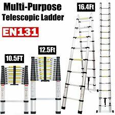 Multi-Purpose Aluminium Step Telescopic Folding Ladder Extendable 2.6-5.2M