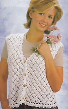 Crochet Pattern ~ LADIES DIAMOND LACE VEST ~ Instructions