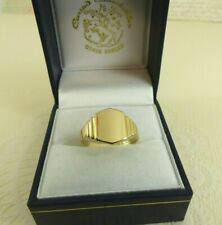 Gents 18ct 18carat Gold Plain Hallmarked Signet Ring size P