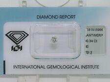 Natürlicher Diamant Brillant 0,34ct River E Si2   IGI Zertifikat vg vg g