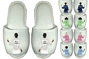 Personalised Bridal Party Spa Slippers Wedding Team Bride Bridesmaid Gowns Robes