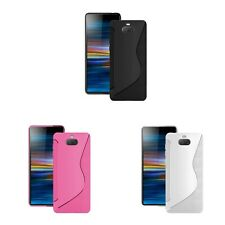 Case For Sony Xperia 10 S-Line Silicone Gel Skin Tough Shockproof Phone Cover