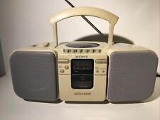 Vintage Sony Cfd-21 Am/Fm Radio Cd Player Boombox All Working Except Tape Deck