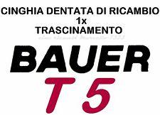 ★CINGHIA DI RICAMBIO TRASCINAMENTO 1x PROIETTORE BAUER T5 8/S.8mm LUNGA DENTATA★