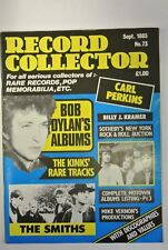 Record Collector Magazine. Issue no. 73, September, 1985. Bob Dylan's Albums.