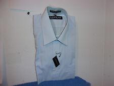 "BRAND NEW MEN'S "" ADOLFO""  BLUE L/S DRESS SHIRT ..SIZE ..15 - 32/32"