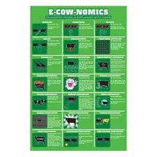 E Cow Nomics POSTER 61x91cm NEW * Economic Models Explained With Cows