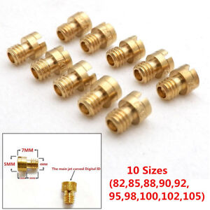 10x Round Head Main Jet 4mm for GY6 50cc 139QMB Scooter Carb PZ19 82-105 10Sizes