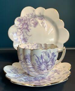 Wileman & Co Foley Pre Shelley 3 Piece Trio - Tea Cup, Saucer, Plate