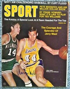 Jerry West Autographed SPORT Magazine Cover - Los Angeles Lakers - The Logo