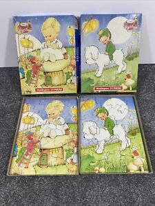 Boo Boos Care Mabel Lucie Attwell 20 Piece Jigsaw Puzzle x2 1986 Vintage