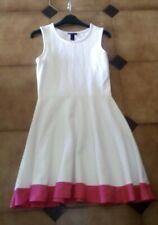 MANGO MNG Collection: Vestido Hermoso Blanco y Rosa (S) Como Nuevo