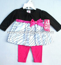 62% OFF! REAL LOVE BABY GIRL'S 2PC TUNIC TOP+LEGGINGS SET 6-9 MOS BNWT $14.99+