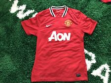 Manchester United 2011-2012 Nike AON Home Red Soccer Jersey ManU Mens L