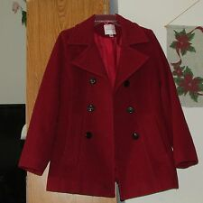 Croft and Barrow double breasted Peacoat Size M Wool Blend