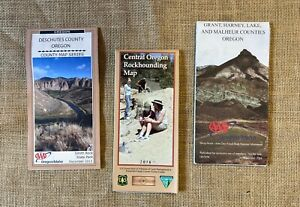3 Map Set  Deschutes County and Eastern Oregon Counties Plus   Rockhounding MAP